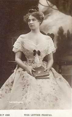 Lettice Fairfax, Britist actress of the late Victorian and early Edwardian period.