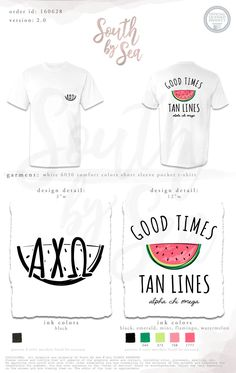 South by Sea Sorority Shirt Designs, Tee Shirt Designs, Sorority Shirts, T Shirt Fundraiser, Custom Clothing Design, Senior Shirts, Greek Shirts, Custom Greek Apparel, Beach T Shirts