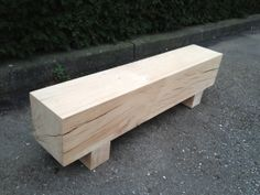 """""""balken-bank"""" Tree Furniture, Recycled Furniture, Rustic Furniture, Garden Furniture, Outdoor Furniture, Outdoor Decor, Outdoor Patio Designs, Outside Seating, Diy Deck"""