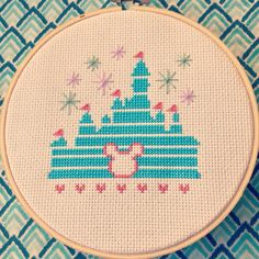 """If you can dream it, you can do it"". Magical Disney Castle free cross stitch pattern, for personal use only"