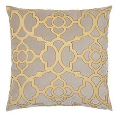 Our exclusive stylish Citrus/Steel Benito Pillow adds fashionable color and a striking pattern to furniture pieces, an easy update to enhanc...