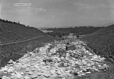 This photo is really RARE! The Panathenaic Stadium (venue of the First Olympic Games in during the very early stages of construction. Greece Pictures, Old Pictures, Old Photos, Vintage Photos, Athens History, Greek History, Greece Culture, Old Greek, Greece Photography