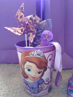 Sofia the First birthday party favors