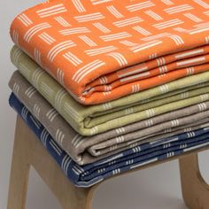 Blankets from Anna-Lisa Smiths latest collection, Iro. Contemporary Blankets, Lisa Smith, Textile Design, Wool Throws, Cushions, Yorkshire, Merino Wool, Anna, England