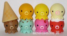 Japanese Kitschy Octopus Toy Takochu Figure Set of 8 Mint in US