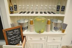 Great idea for wine tasting party, one glass and rinse