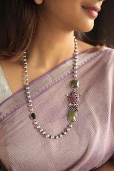 Fancy Jewellery, Gold Jewellery Design, Bead Jewellery, Beaded Jewelry, Silver Jewelry, Western Jewelry, Kerala Jewellery, Silver Jewellery Indian, Necklace Designs