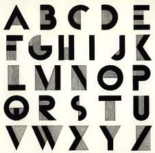 art deco letters - Google Search