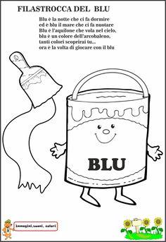 Scopriamo il colore blu prima attraverso la lettura della filastrocca e poi con attività pratiche di laboratorio. Cominciamo cercando ...