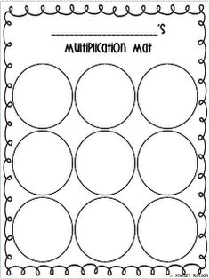 Multiplication Mat - This simple mat is a good way to help students visualize groups when multiplying!