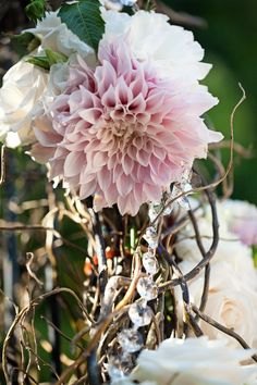 Glam wedding flowers