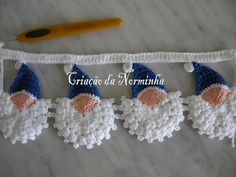 OFICINA DO BARRADO: CROCHE - PAP Noel Azul ...