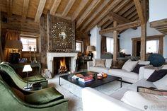 Fireplace at Chalet Bellevallia - Verbier