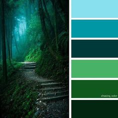 best Ideas for nature forest house color palettes House Color Palettes, Color Schemes Colour Palettes, Green Color Schemes, Nature Color Palette, Green Colour Palette, Pallet Tree Houses, Palette Design, Forest Green Color, Green Art