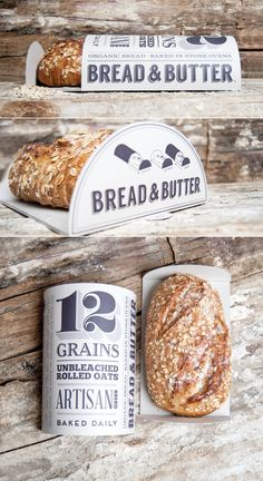 Student: Bread & Butter — The Dieline Burger Packaging, Dairy Packaging, Bread Packaging, Bread Brands, Bread And Company, Bakery Branding, Bread Shop, Bread N Butter, Vegan Butter