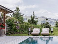 Alpen Luxus Chalet mit Wellness & Pool | Schmiedalm Outdoor Pool, Outdoor Decor, Wellness, Outdoor Furniture Sets, Austria, Home Decor, Chalets, Alps, Luxury