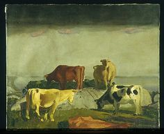 Five Cows – George Bellows  (American, Columbus, Ohio 1882–1925 New York City)