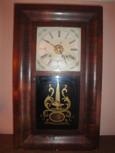 Antique 1800's Ansonia 30 Hour Weight Driven Hourly Chime Wind Up Shelf Clock