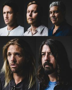 danny north, dave grohl  5 band members photo collage  Foo Fighters - Dave Grohl, Nate Mendel, Taylor Hawkins, and Chris Shiflett.  February 2015