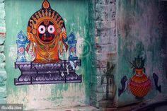Indian temple mural painting