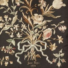 A Georgian Silk-Work Bouquet - Decorative Collective
