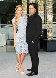 Candace Swanepoel in Valentino with Brian Atwood at the 2012 CFDA ... love the dress, love the shoes