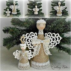 Quilling - Angel - Christmas ornament