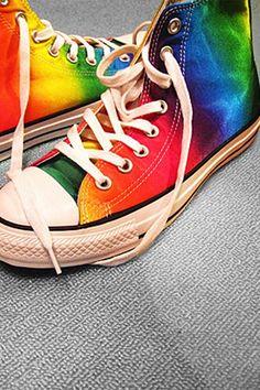 0f05d390f7f1 rainbow converse Amanda Bull needs these!