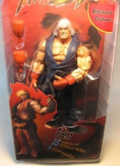 Street Fighter IV Survival Mode NECA Player Select Action Figure Ken by NECA. $25.21. Size: 7 inch. Made by NECA in 2009. For ages 14+. From the best-selling video game and arcade fighter comes this action figure collection based on the long awaited 4th game in the Street Fighter series! Each figure is highly detailed and highly articulated to allow for maximum posing and display. Neca Toys produced this line of 6 inch scale action figures based on the cult classic chara...