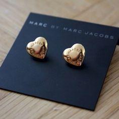 Marc Jacobs heart earrings.