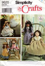 """1995 UNCUT Simplicity Crafts Sewing Pattern 9620 """"25"""" Doll and Clothes"""""""