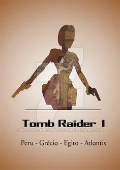 Tomb Raider minimalist poster + locations - part 1 by blackrainbowwwcn