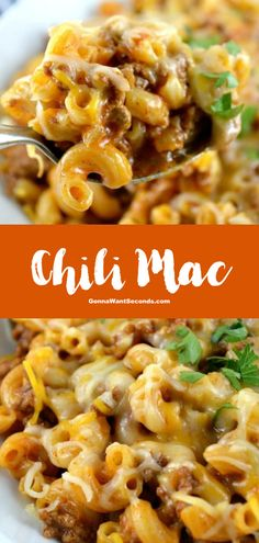NEW A variation on mac and cheese chili mac adds pantry ingredients to a classic meal. Once your family tries chili mac youll be making it on repeat! The post Chili Mac appeared first on Tasty Recipes. One Dish Meals Tasty Recipes Casserole Recipes, Pasta Recipes, Dinner Recipes, Cooking Recipes, Chili Recipes, Salad Recipes, Chili Mac Recipe, Mac And Cheese Casserole, Pasta Meals