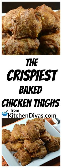 These are the Crispiest Baked Chicken Thighs you will ever enjoy! Easy to prepare and fabulous to eat! Use your favorite chicken seasoning and they turn out beautifully, every time! This recipe is for all of you chicken thigh lovers out there that want to enjoy crispy skin and totally tender and juicy meat inside. Then this recipe is for you!