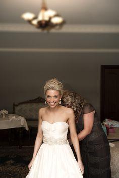 Bianca looking stunning on her wedding day in her bespoke Ella Moda gown! <3