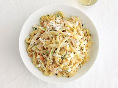 Fettuccine With Summer Vegetables and Goat Cheese Recipe : Food Network Kitchen : Food Network - FoodNetwork.com