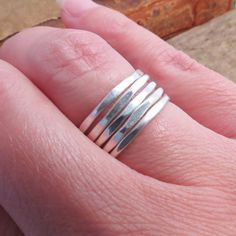 Silver Stacking Rings | Minimalist Handmade Unique Silver Stackable Rings