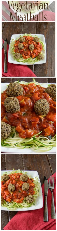 These baked meatballs are gluten free, low fat, vegan, and packed with fiber and protein.