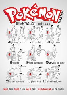 Pokemon Work out routines!!