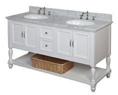 Palazzo 60-Inch Double Bathroom Vanity beverly 60-inch double bathroom vanity (carrara/white): includes