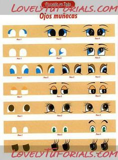 Air Dry Clay Tutorials: Painting Eyes Step by Step Eye Painting, Ceramic Painting, Doll Face Paint, Clay Pot Crafts, Doll Eyes, Painted Pots, Air Dry Clay, Clay Tutorials, Projects For Kids