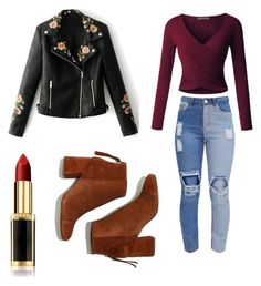 """OOTD"" by cserebecca ❤ liked on Polyvore featuring LE3NO, WithChic, L'Oréal Paris and Madewell"