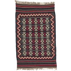 Ecarpetgallery Handmade Persian Qashqai Beige and Red Wool Kilim (5' x 7'11) (Beige, Red Cream, Red Kilim (5' x 7'))