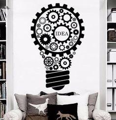 Sticker Mural, Lampe de réflexion. Venez découvrir nos Stickers #Sticker