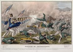 Battle of Churubusco 10 August 1847 fought miles from Mexico City American infantry charging Mexican battery Currier Ives print Mexican Army, Mexican American War, Irish American, American History, American Presidents, American Soldiers, American Civil War, Tom Berenger, History Class
