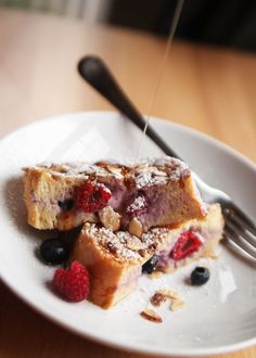 Stuffed French Toast with Berries & Cream Recipe
