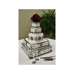 Wedding, Cake, Red, White, Black - Project Wedding - Polyvore