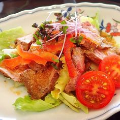Roastbeef レストラン有馬  #roastbeef #beef #tomato #salad #meat #restaurant #lunch #kurume #fukuoka #ローストビーフ #肉 #レストラン有馬 #篠山城跡 #久留米城跡 #久留米 #懐石 #懐石料理 #法事