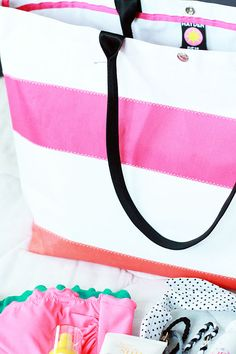 The BEST Beach Tote | Let It Be Beautiful