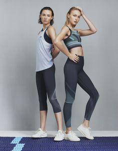 Hook Tank with Spectrum Cropped Leggings, and Spectrum Sports Bra with matching leggings  #LNDR